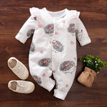 Hedgehog Cutie Long Sleeve Newborn/ Baby Romper