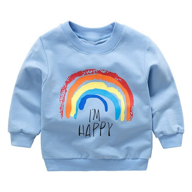 I'm Happy Kids Rainbow Sweatshirt