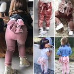 Adorable Big Bow Toddler Girl Leggings