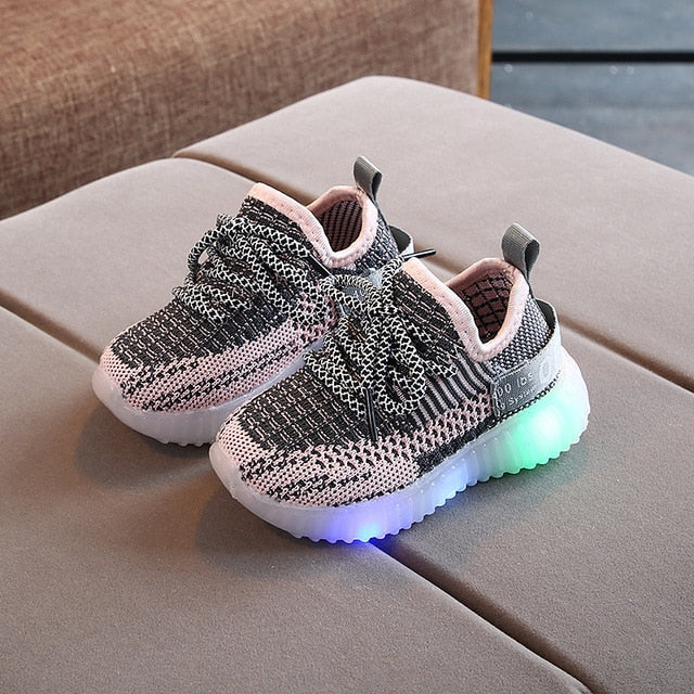 Contemporary Casual Toddler/Kids LED Knit Sneakers