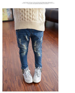 Fall Ready Toddler/Girls Distressed Jeans