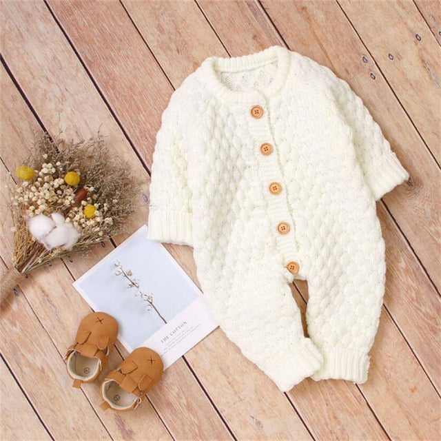 Soft Winters Cotton Knitted Baby Romper