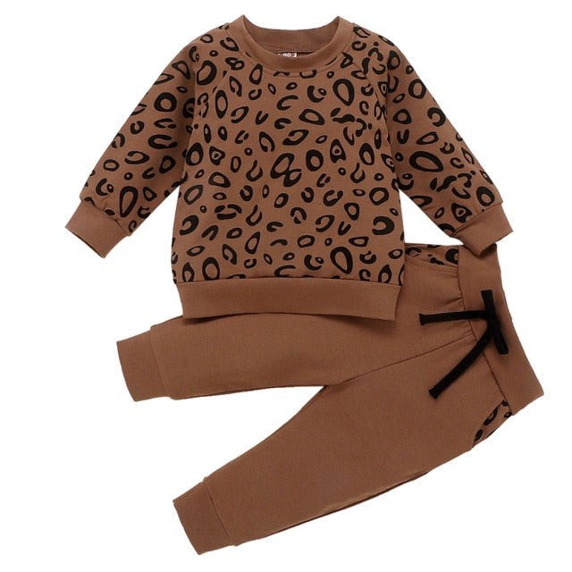 Be Modish in Leopard Toddler Girls Sweats Outfit