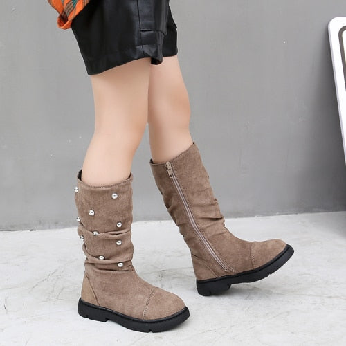 Sleek n Stylish Studded Suede Boots