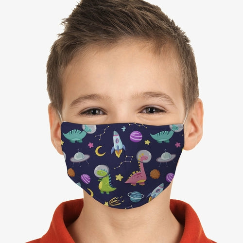 Dino's in Space Kids Face Mask