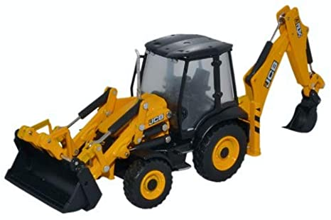 Copy of Oxford Diecast 1:76 JCB Backhoe Loader 763JCX001 - Roads And Rails