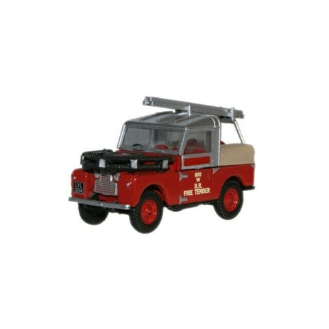 Oxford Diecast 1:76 Landrover 88'' British Rail Fire Tender 76LAN188015 - Roads And Rails