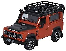 Oxford Diecast 1:76 Landrover Defender 90 Phoenix Orange (Adventure) 76LRDF008AD - Roads And Rails