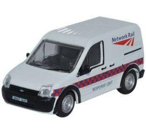 Oxford Diecast Network Rail Response Unit Ford Transit Connect Van 76FTC002 - Roads And Rails