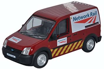 Oxford Diecast Network Rail (Jarvis) Ford Transit Connect Van 76FTC009 - Roads And Rails
