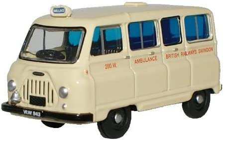 Oxford Diecast 1:76 Morris J2 British Rail Ambulance 76JM019 - Roads And Rails
