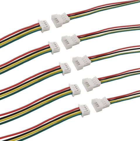 5x Micro Plugs And Sockets (4 Pin) - Roads And Rails