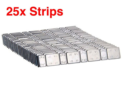 25 Strips Of Model Railway Weights - Roads And Rails