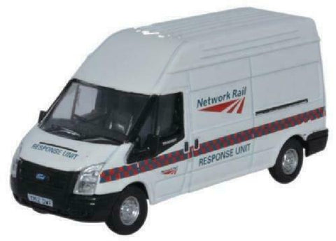 Oxford Diecast Network Rail Response Unit Ford Transit LWB High Van 76FT022 - Roads And Rails