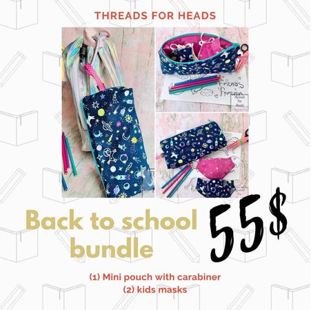Threads for Heads Scrub Hats Back to School Bundle