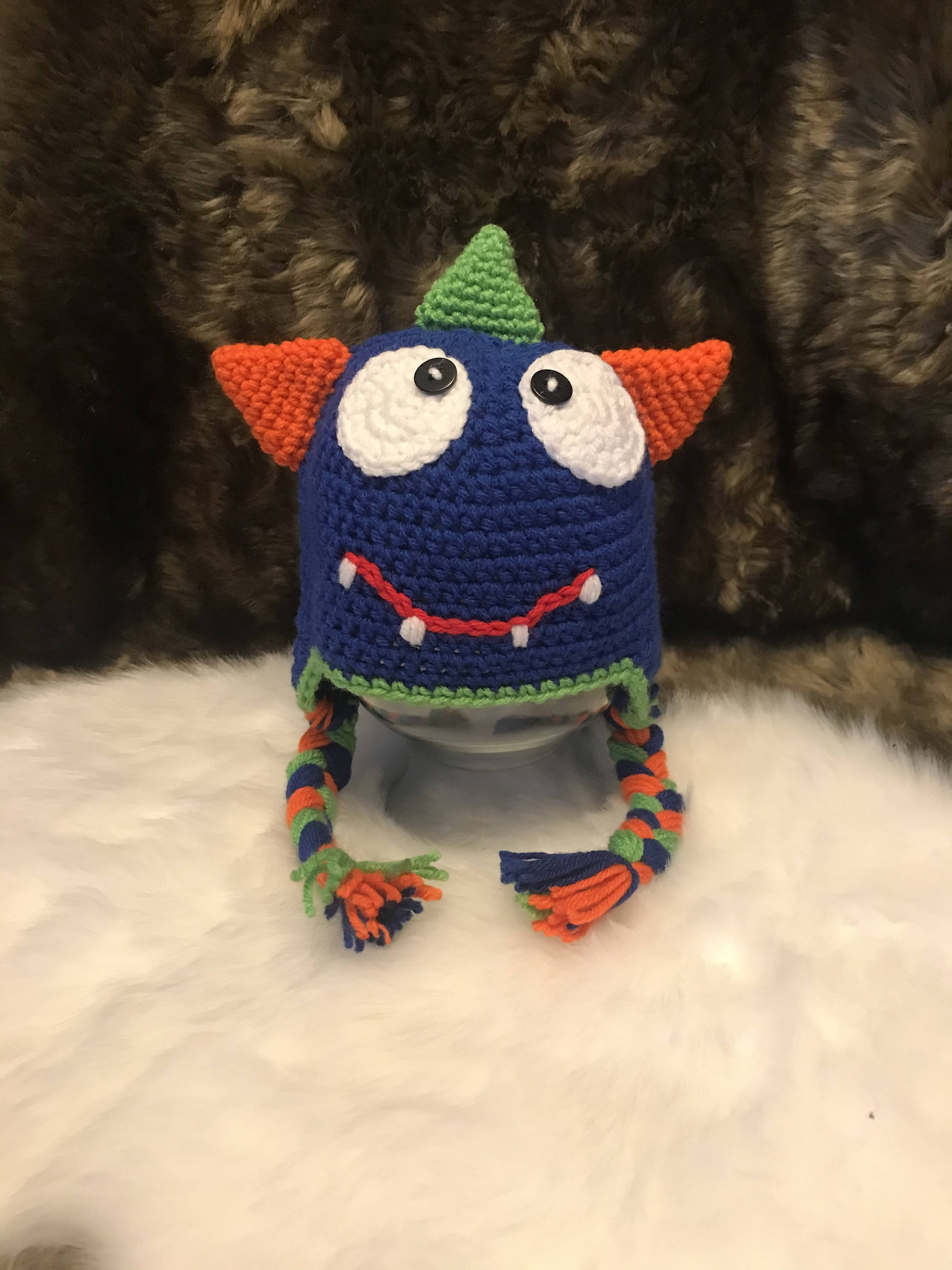 Little Blue Monster Toddler Hat