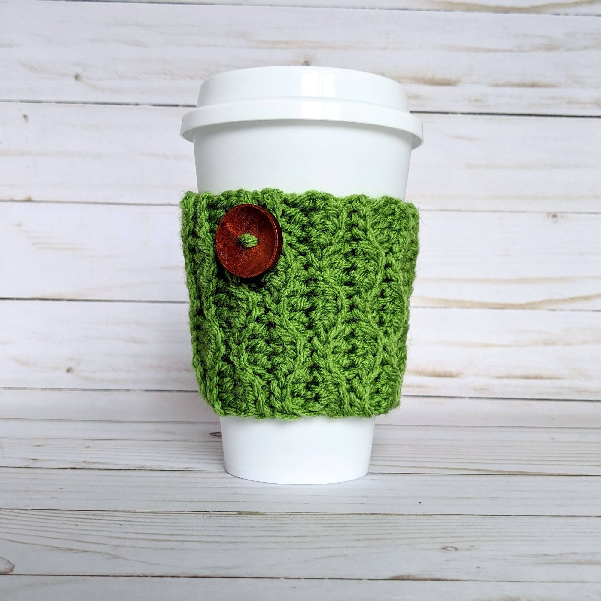 Reusable Coffee Cozy with Button