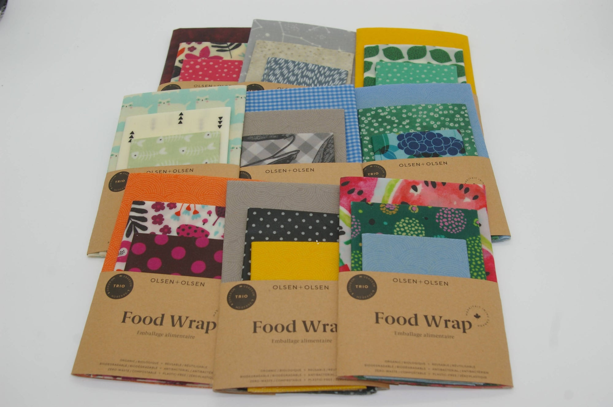 Beeswax Reusable Food Wraps - Pack of 3