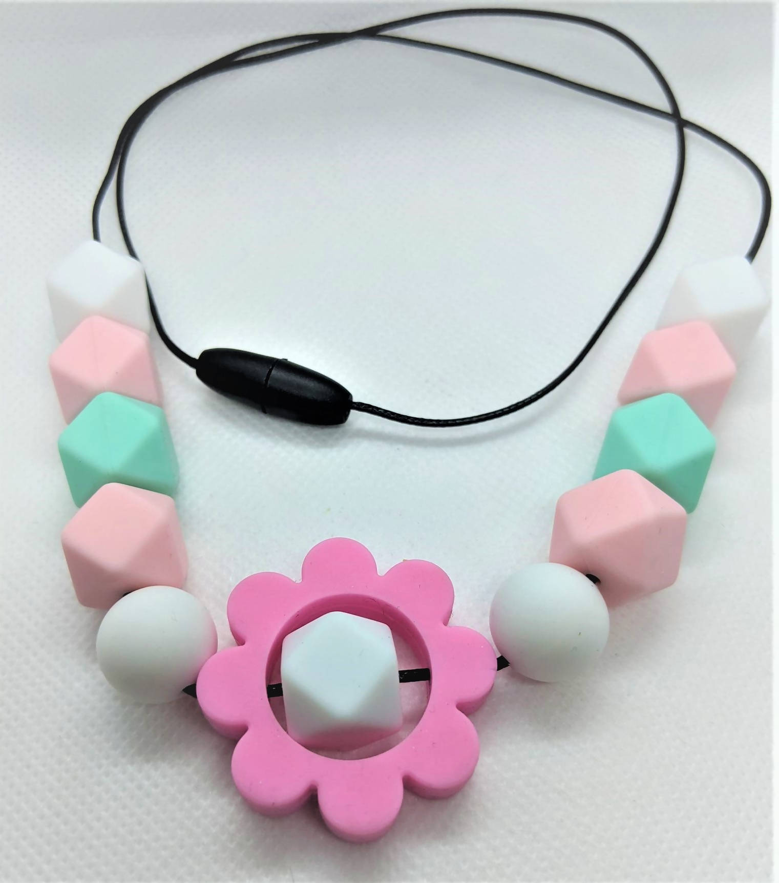 Pink Flower Breakaway Necklace