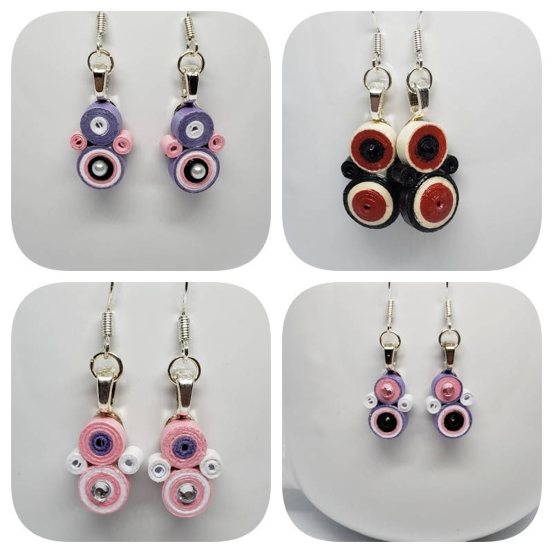 """FREE SHIPPING"" Small Quilled Earrings (Sterling Silver)"