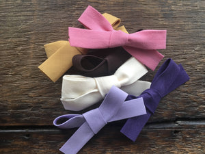 Fabric bow baby headband