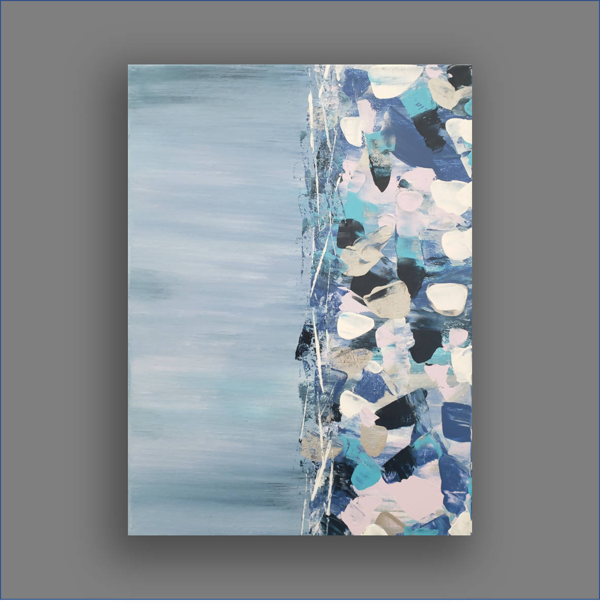 """Fragmentary Blue"" Original Small Abstract Painting"