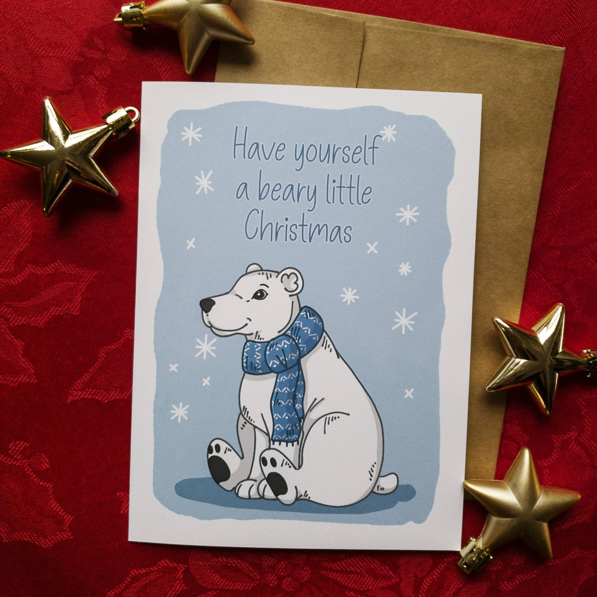 Have Yourself a Beary Little Christmas - Blank Christmas Card