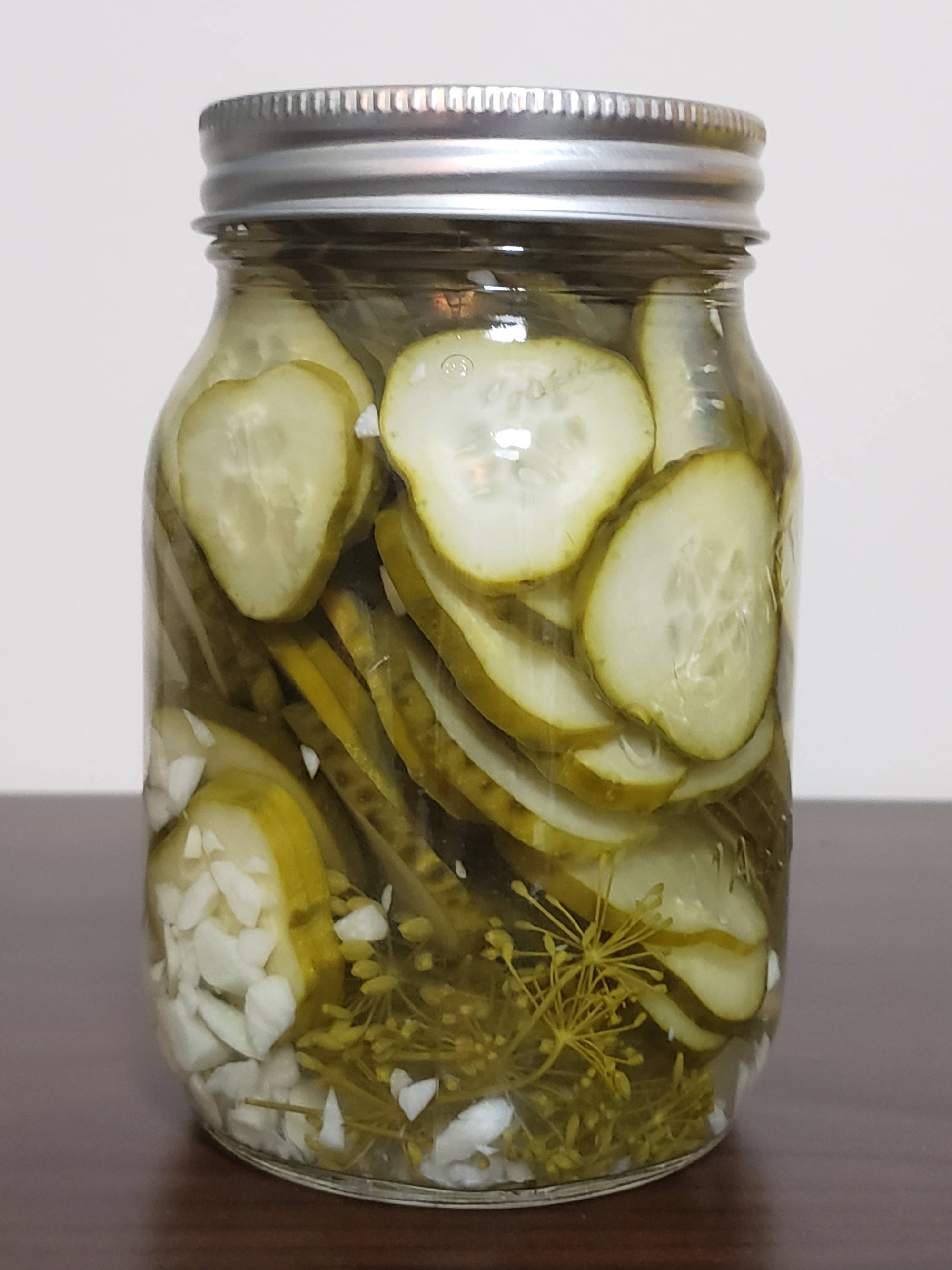 Homemade Local Sliced Zesty Garlic Dill Pickles