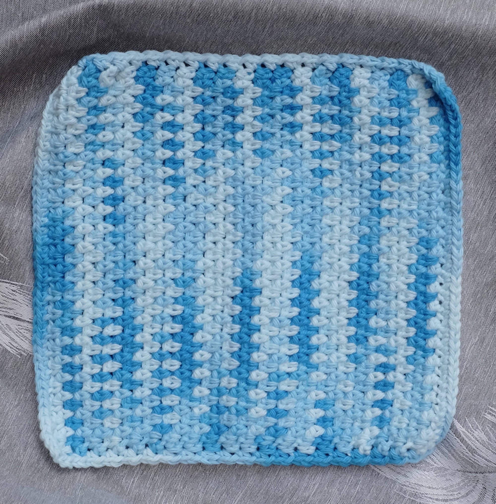 Ombre Crocheted Dishcloth