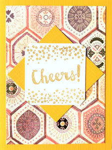 """Cheers!"" Card (Lively Yellow)"