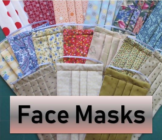 All Cotton Pleated Face Masks - Random Fabrics