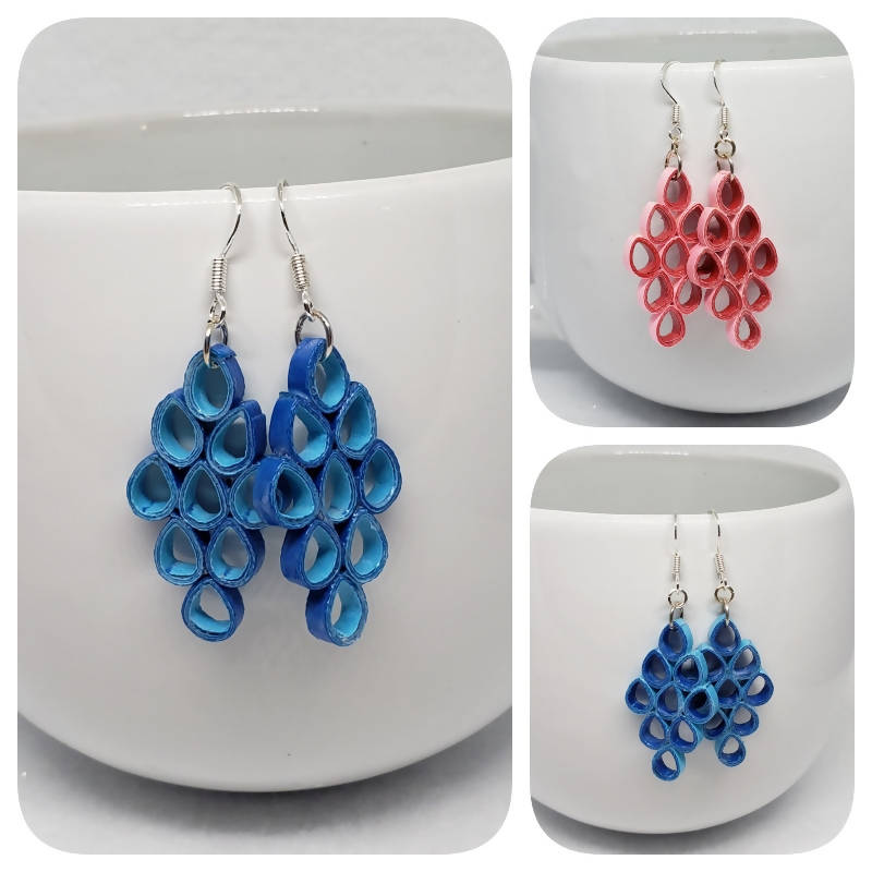"""FREE SHIPPING"" Quilled Earrings (sterling silver)"
