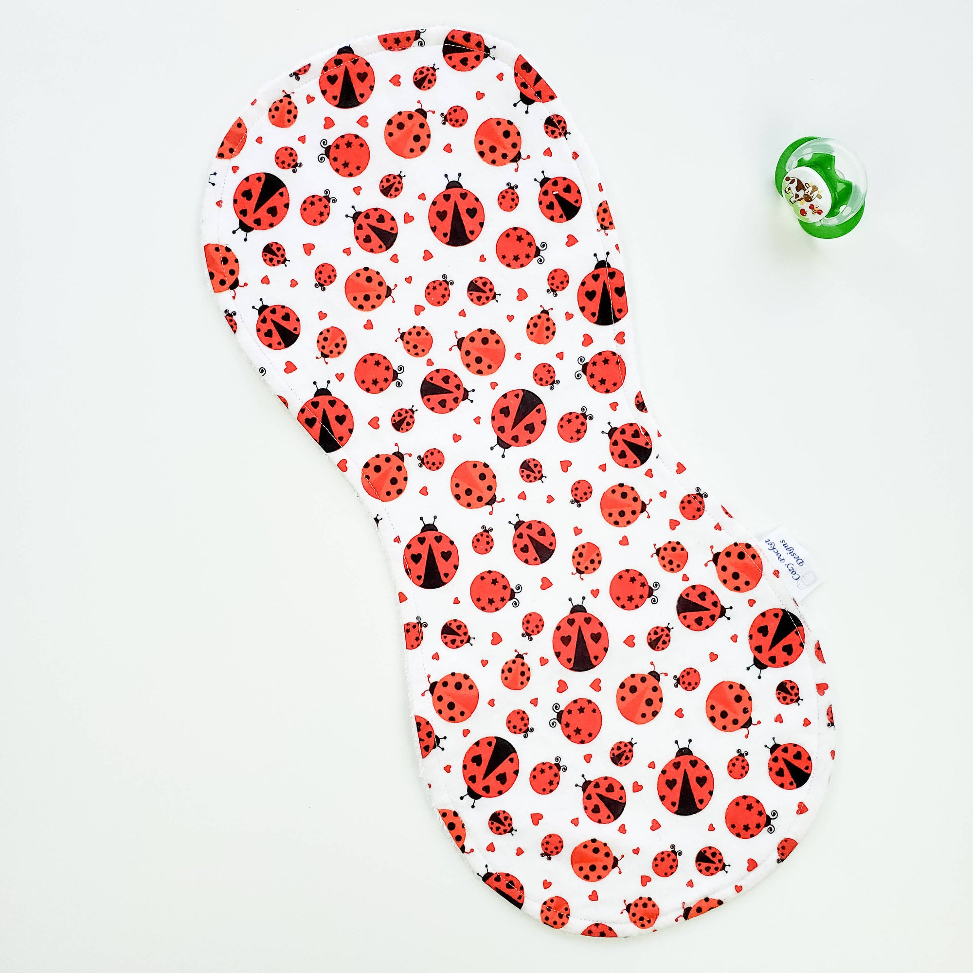 Burp Pad - Large & Small Ladybugs