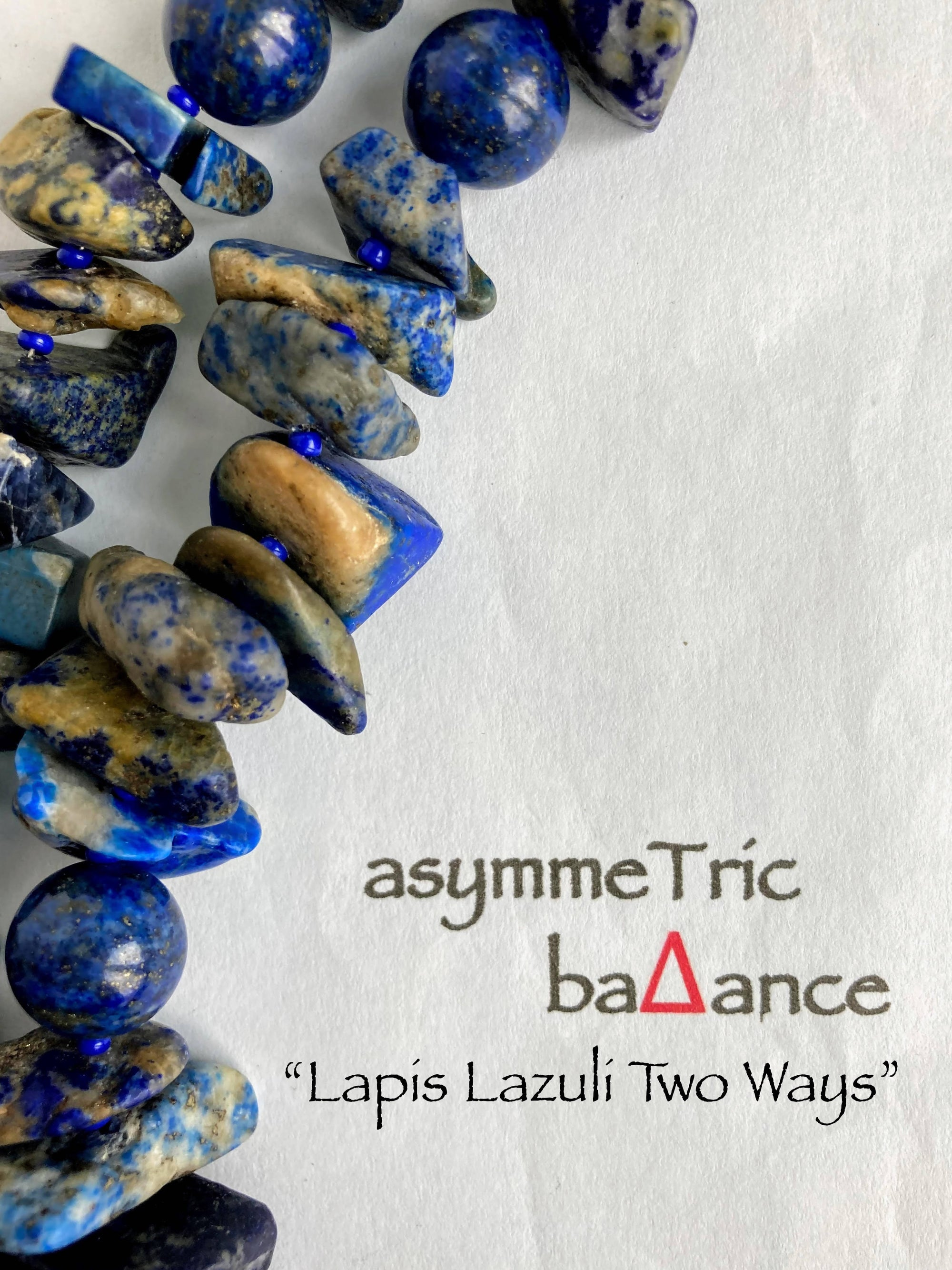 Lapis Lazuli Two Ways - a semi-precious gemstone statement necklace