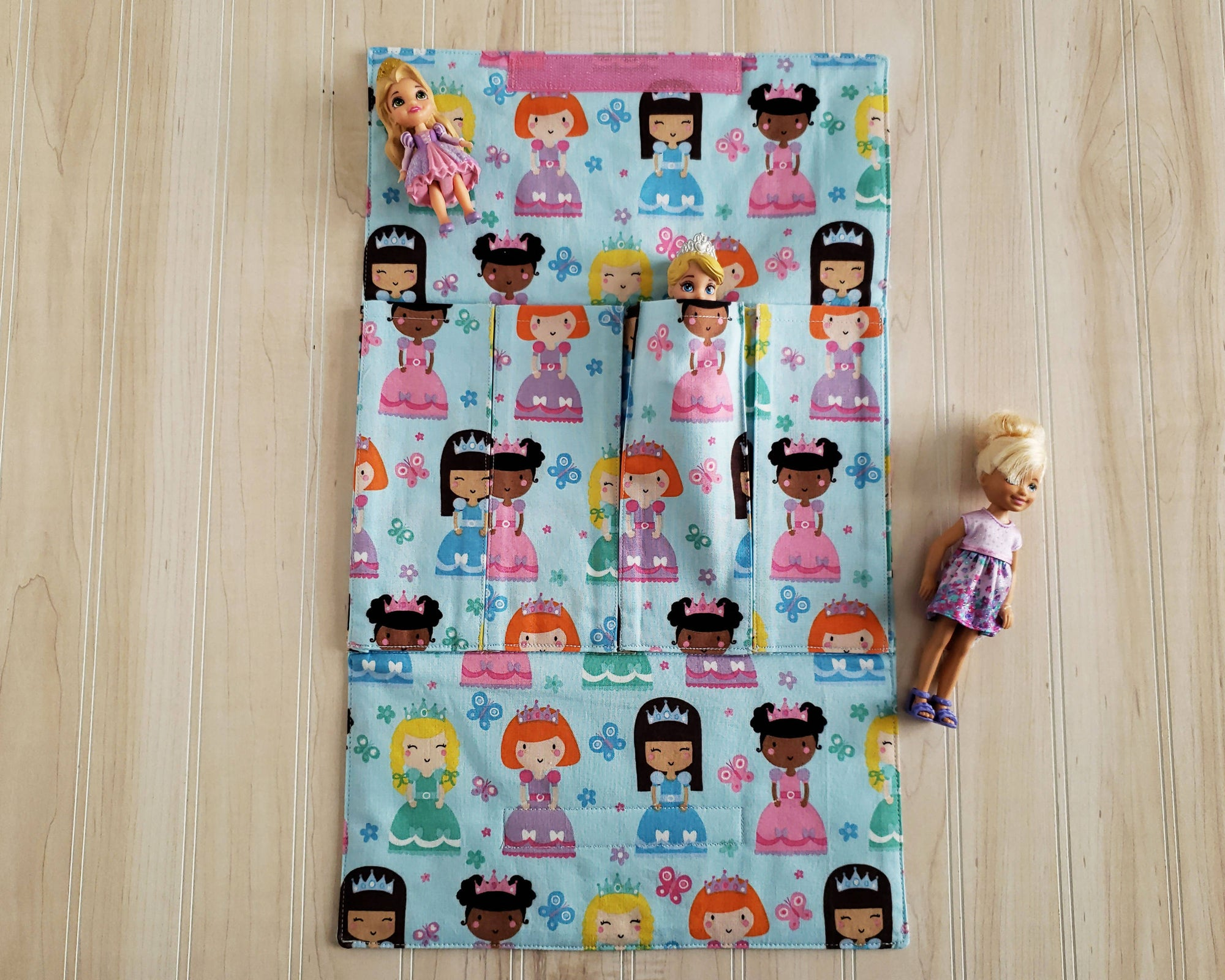 Doll/Toy Carrier - Blue Princesses