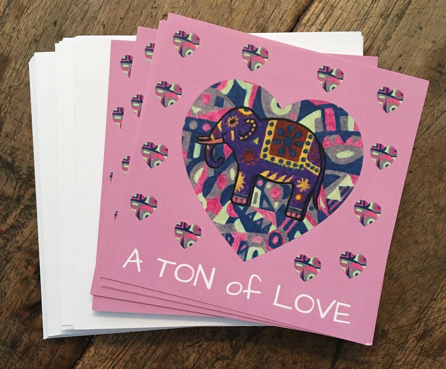 A TON of LOVE Greeting Cards