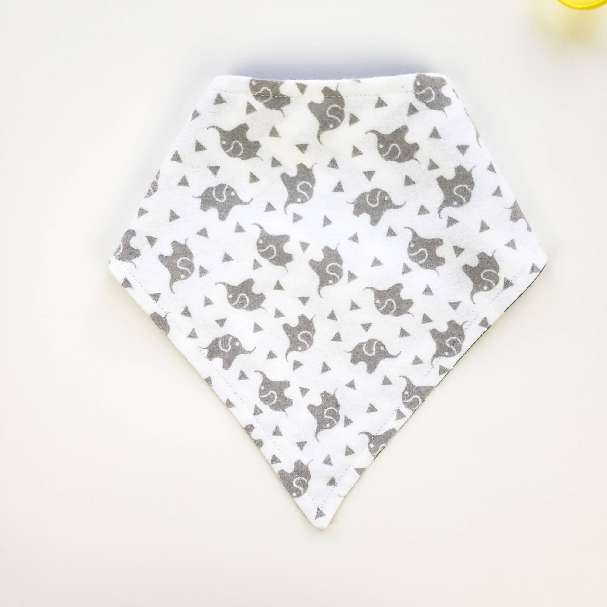 Bandana Bib - Elephants on White