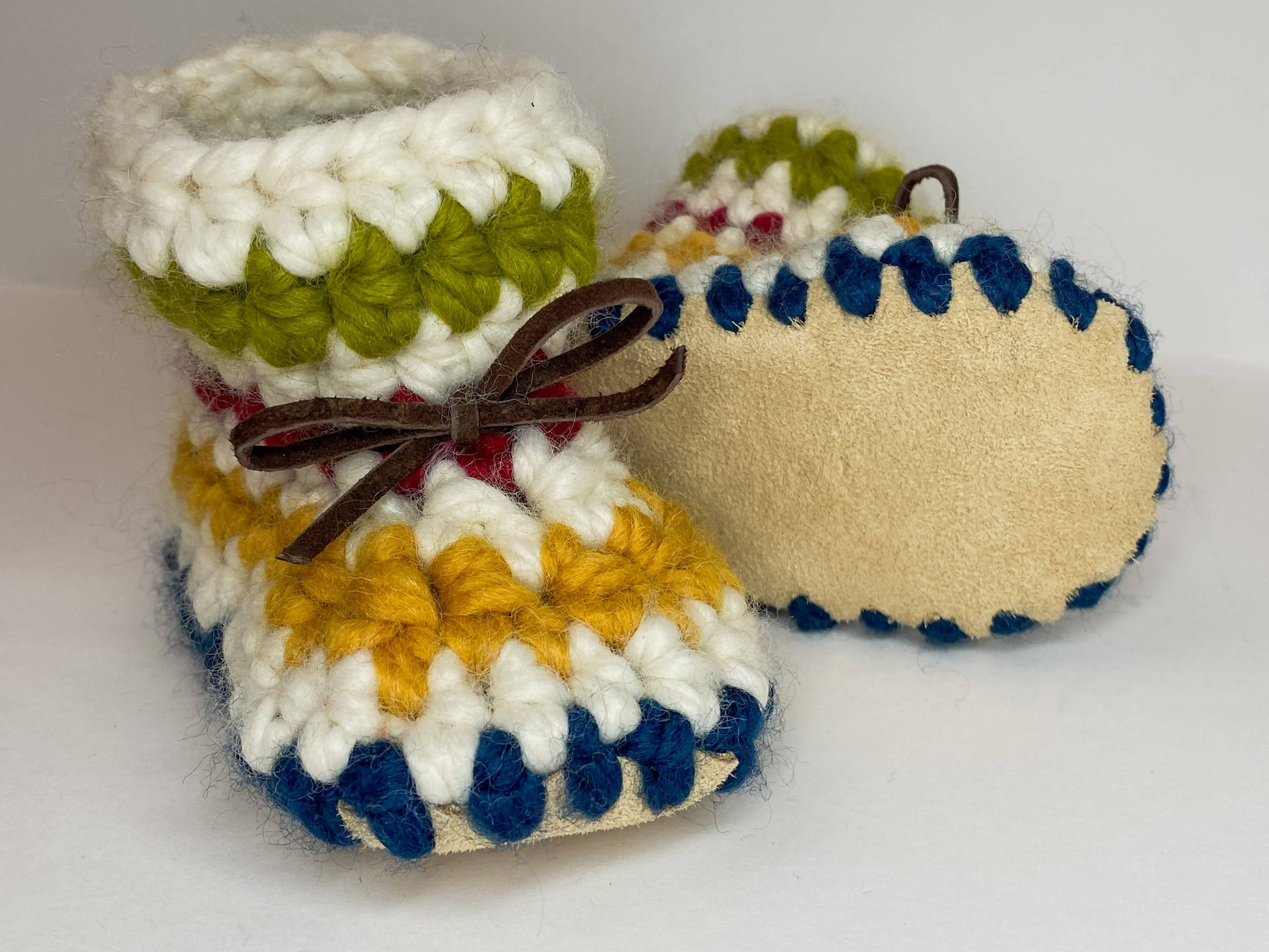 HUDSON STRIPES BABY BOOTIES / SHOES