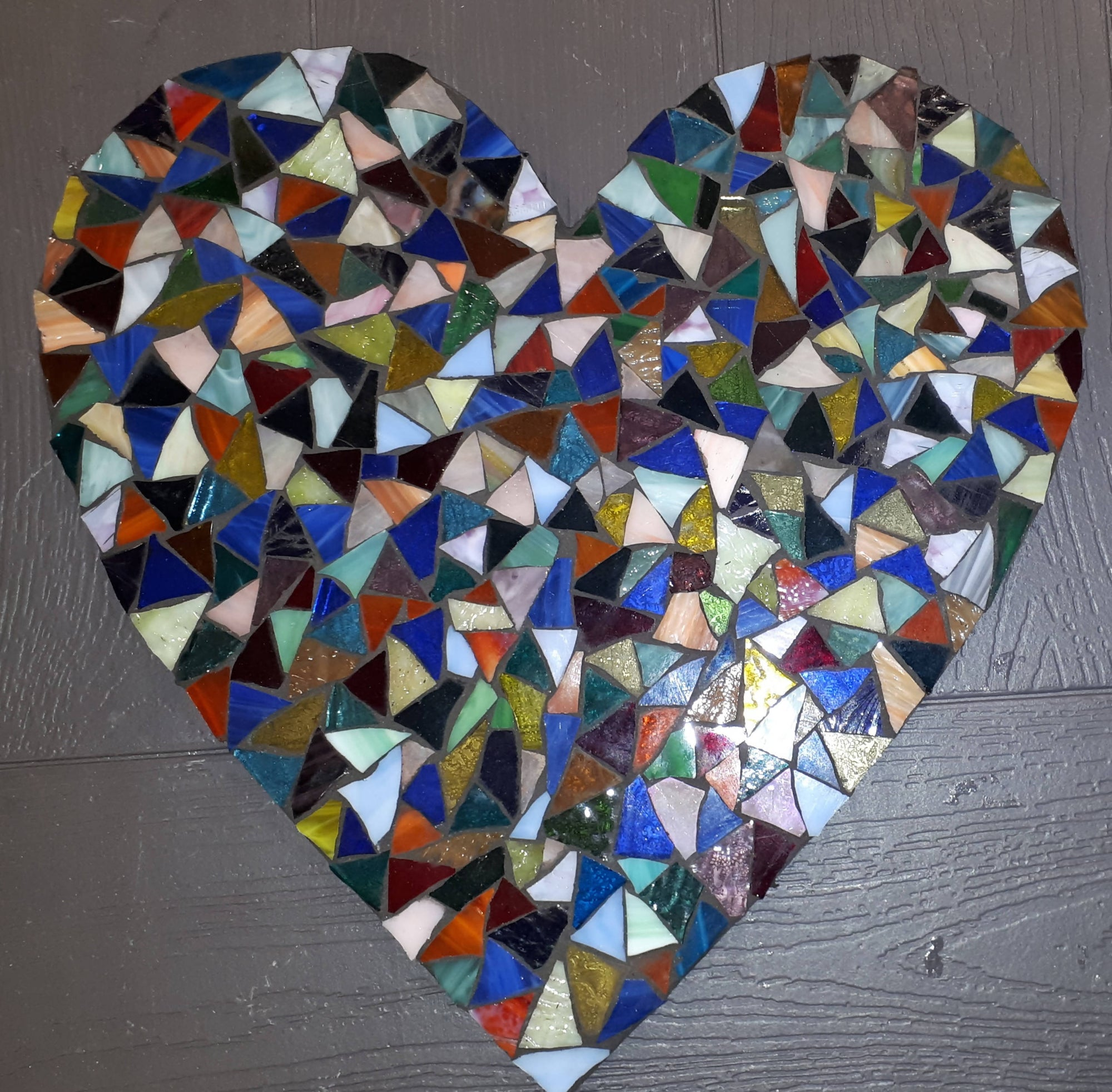 Stained Glass Mosaics Large Heart