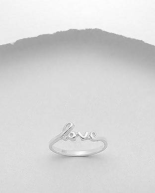 "925 Sterling Silver ""Love"" Ring"
