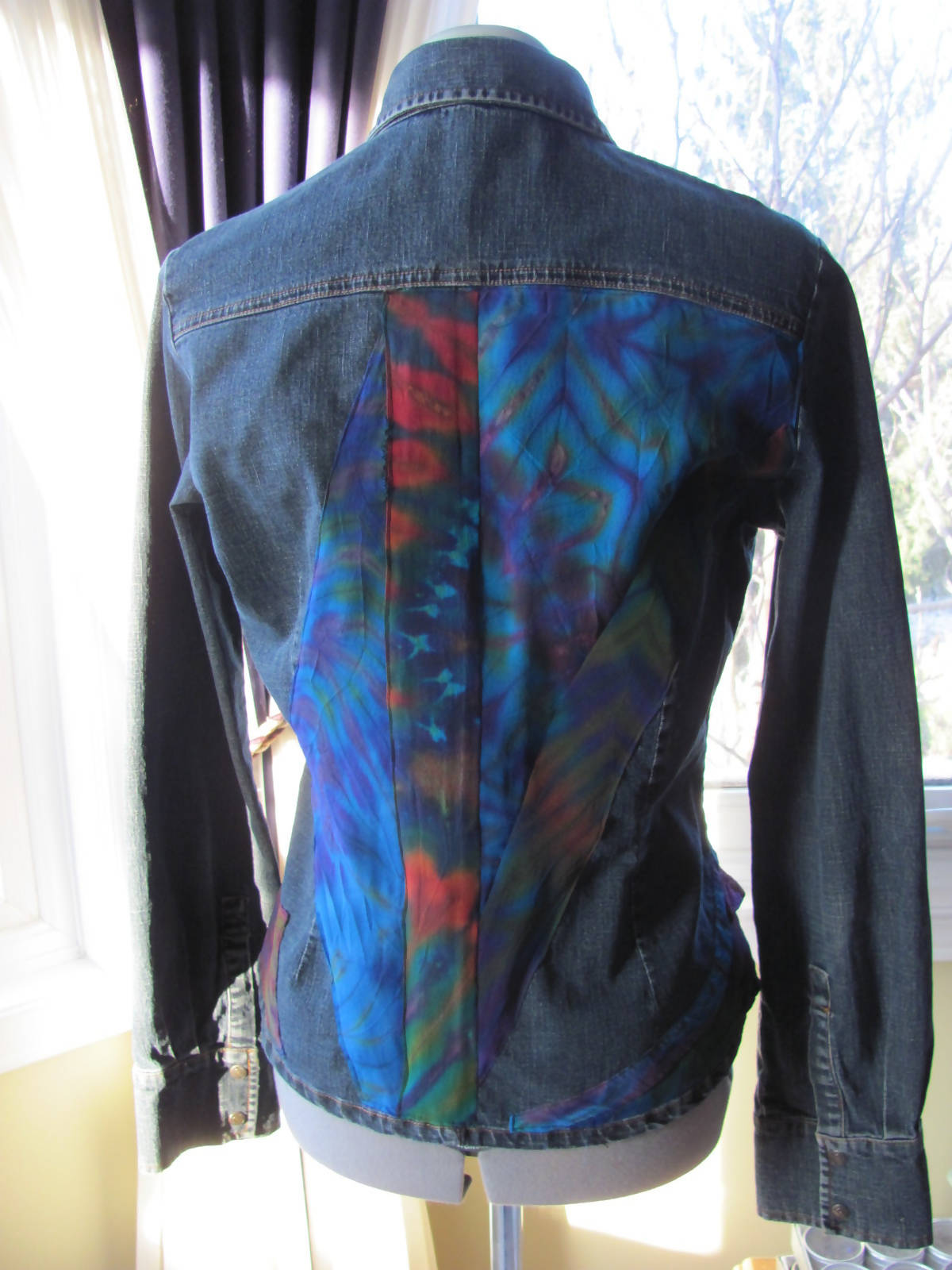 """Art-to-wear jean jacket"""