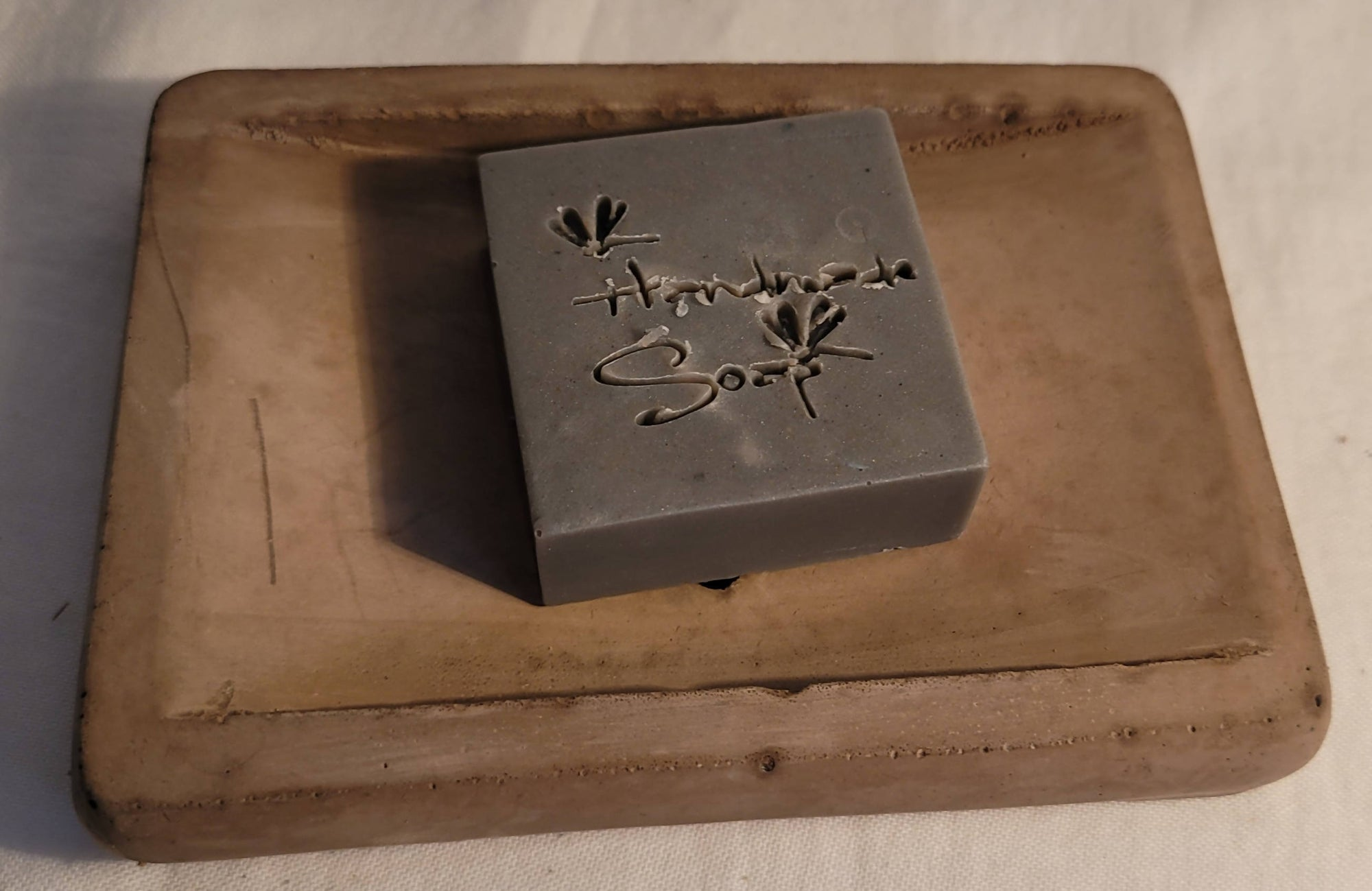 Relief - Handmade soap saver cement soap dish LARGE