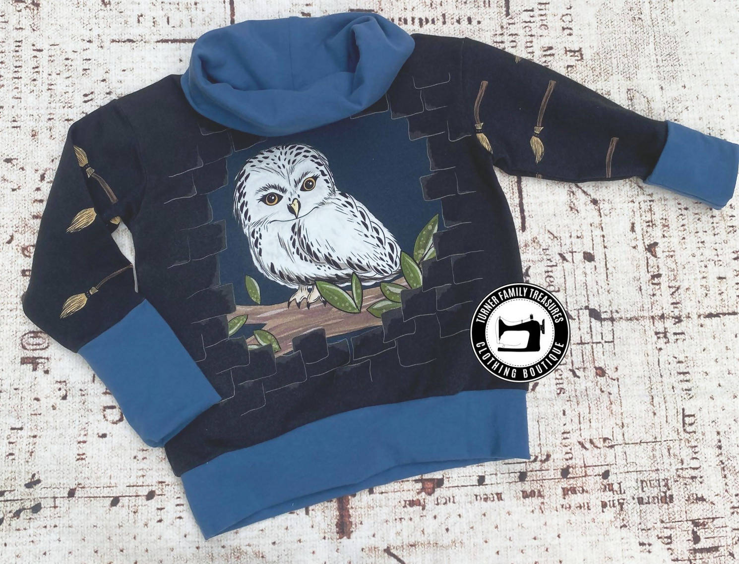 Grow With Me Oversized Owl Sweatshirt ages 1-3 years