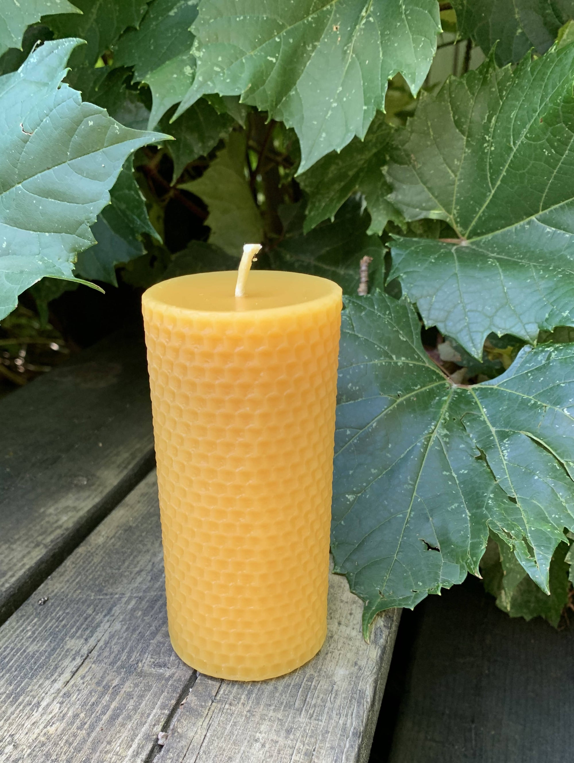 Pure Canadian Beeswax Candles - Honeycomb Pillar