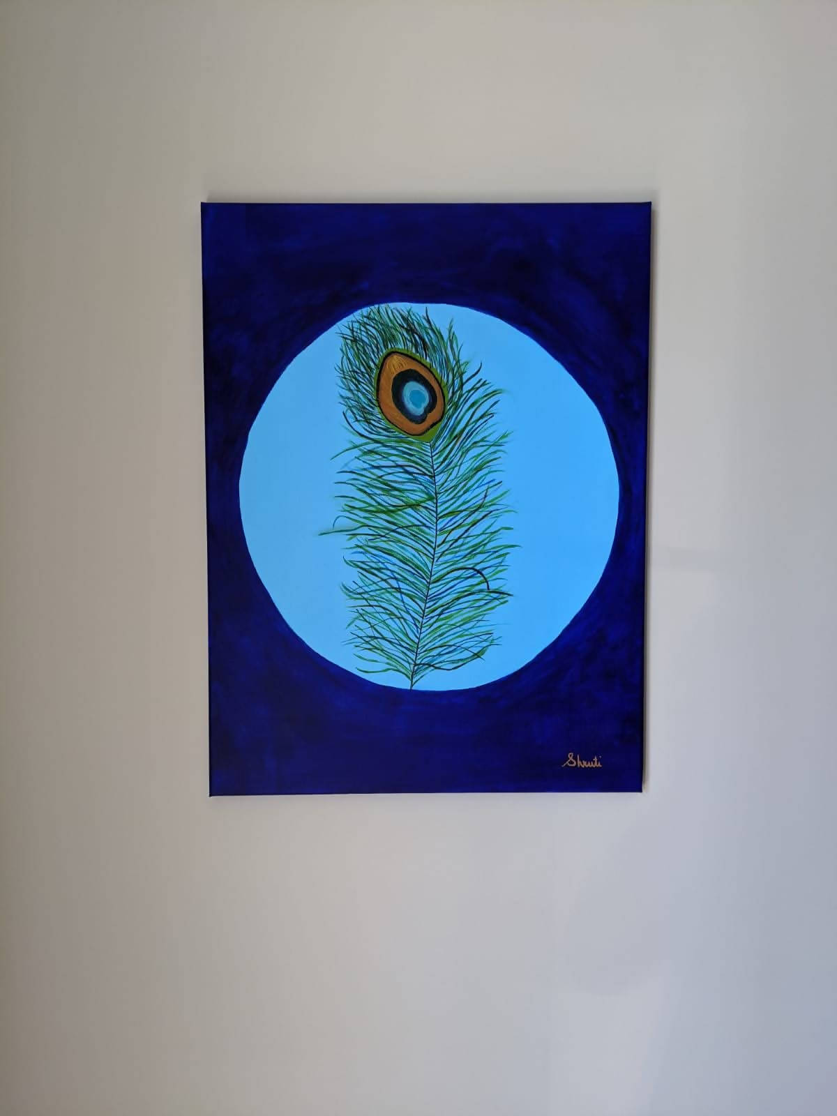 Peacock Feather Canvas Painting