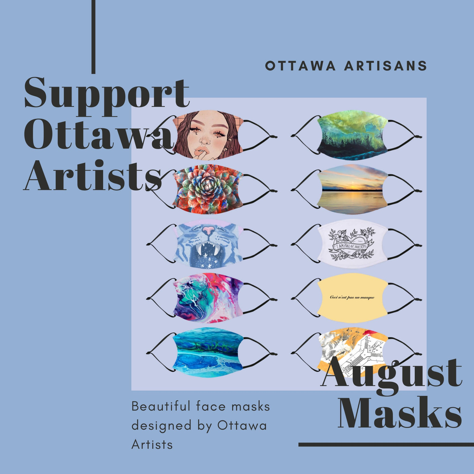 Ottawa Artist Masks - August