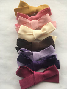 3 pack- Fabric bow baby headband