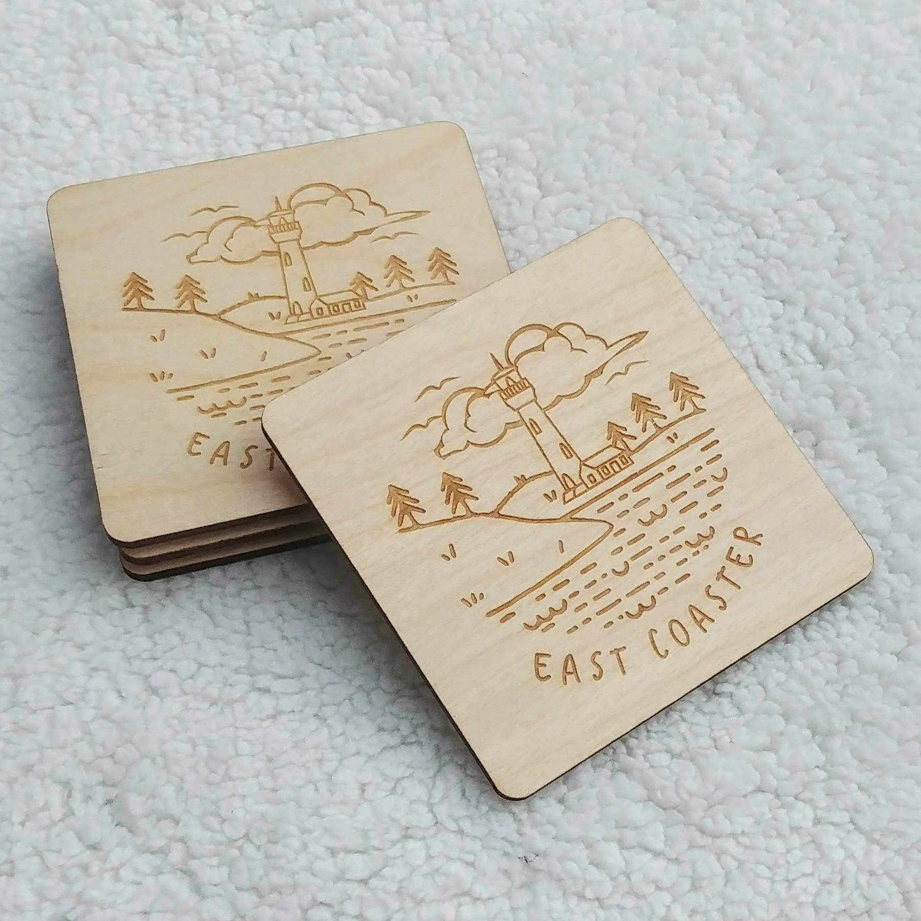 """East Coasters"" Coaster Set"