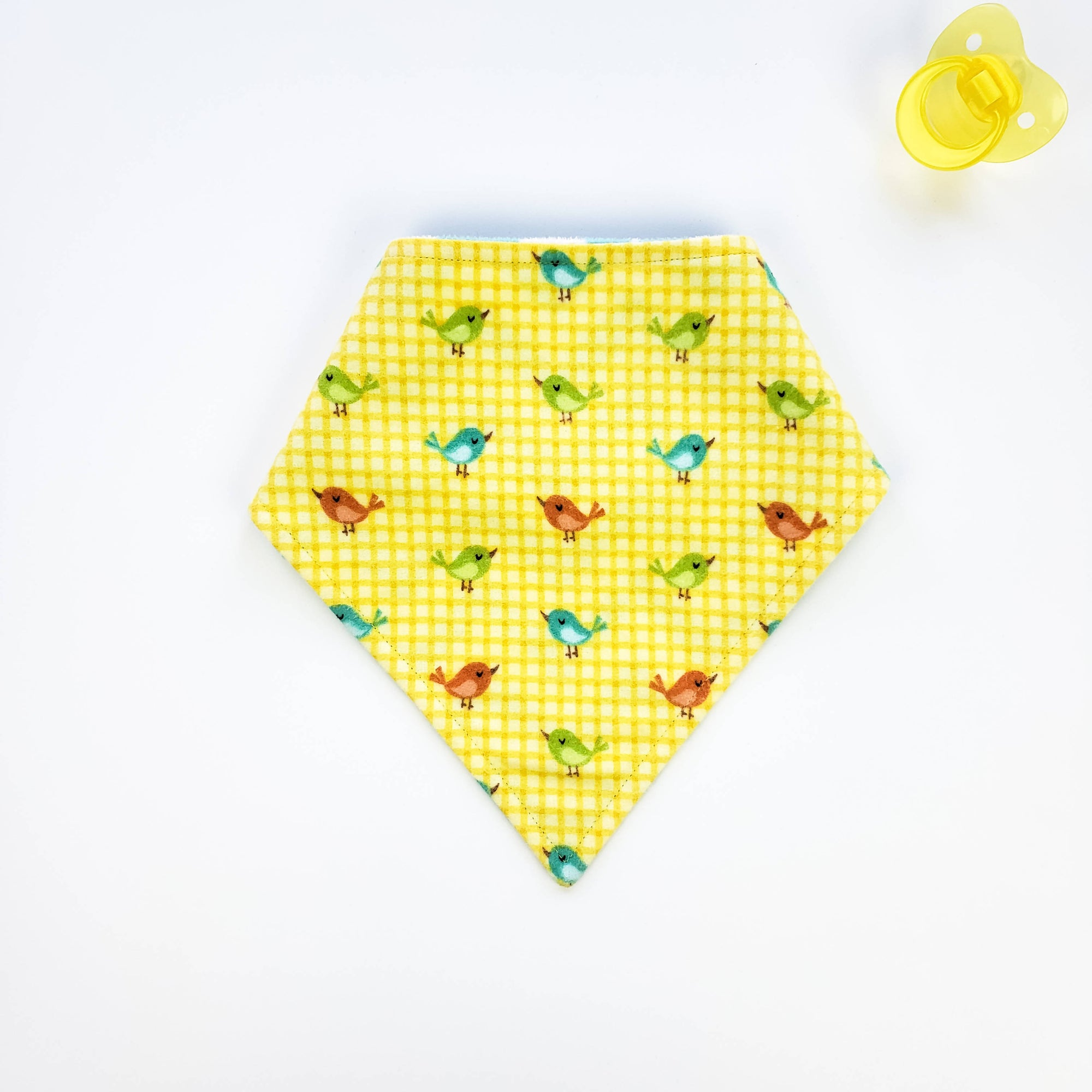 Bandana Bib - Birds on Yellow