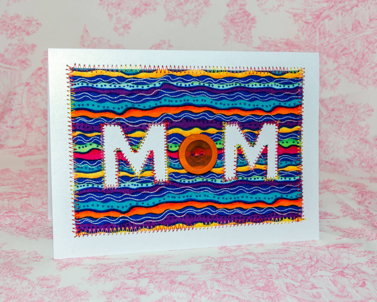 Mother's Day Greeting Card - Handmade - Multi-coloured